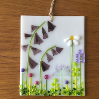 Fused Glass Foxgloves Suncatcher Picture Mother's Day Gift Decoration Flowers
