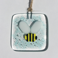 Fused Glass Bumblebee Decoration Suncatcher Gift Honey Bee