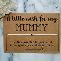 Mummy Wish Bracelet Charm Bracelet Star Bracelet Mum Gift Mother's Day