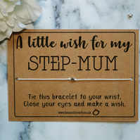 Step-Mum Wish Bracelet Charm Bracelet Star Bracelet Mother's Day Gift Mummy