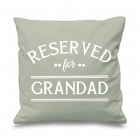Reserved For Grandad Cushion Cover Gift Father's Day Pillow Gifts for Him