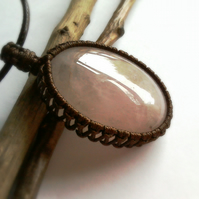 Rose quartz bohemian necklace