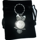 70th Birthday 1948 lucky sixpence owl keyring