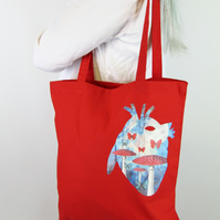 Fairy Anatomical Heart RedTote Bag
