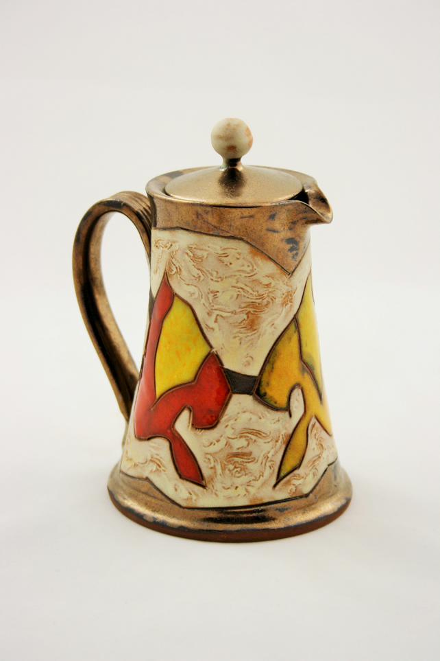 Milk Jug, Coffee creamer,Pottery pitcher 10oz