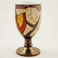 Wine Goblet, Ceramic Wine Glass,Pottery Chalice,Valentine's day,Mother's day