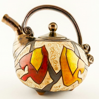 Hand thrown  teapot 37oz,Stoneware teapot,Mother's day gift