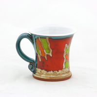 Hand thrown Espresso cup, Handmade  coffee mug,Coffee love cup, Ceramic teacup,
