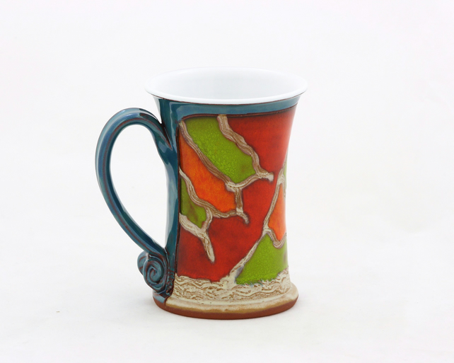 Pottery mug,Tea cup, Ceramic handmade mug, Hand thrown mug