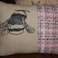 Bee - Screen printed cushion. 33cm x 26cm