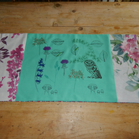 Woodland , screen printed table runner - (134 cm by 40 cm)