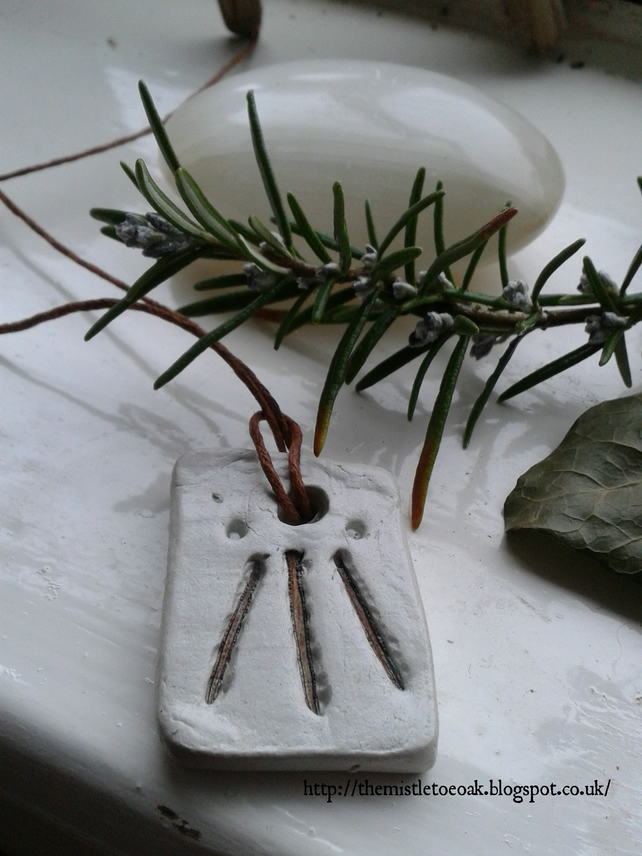 Druid Pagan Awen Rosemary Pendant