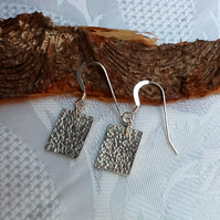 Sterling silver textured earrings (E 113)