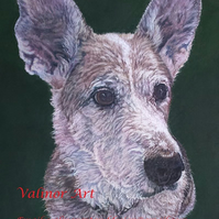 "12"" x 16"" Custom pet portrait in pastel (head view only)"