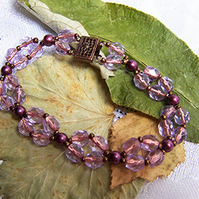 Lilac and copper bracelet (B 29)