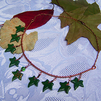 Ivy copper swag necklace (N 116)