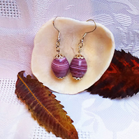 Purple swirly earrings (E 19)