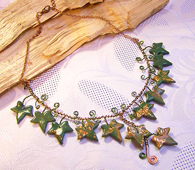 Trailing ivy copper necklace (N 117)