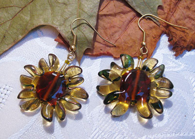 Shades of summer sunflower earrings (E 129)