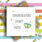 Congratulations Smarty Pants Card (Stars)