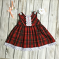 Baby girl Royal Stewart Tartan party dress, photo Shoot, 1st birthday 9-12 month