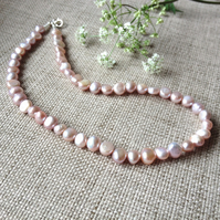 Pale Pinky Freshwater Pearl Necklace