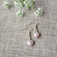 Pale Pinky Freshwater Pearl Earrings
