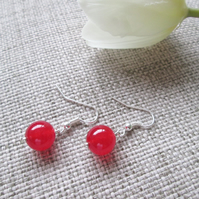 Quartzite Earrings, Red