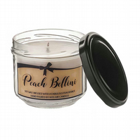 Peach Bellini cocktail soy wax candle