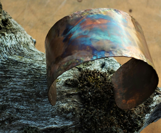 Copper Flame Painted cuff