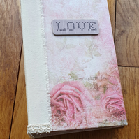 Love Themed Journal, Guestbook, Blank Journal, Valentine's Day, Wedding Shower