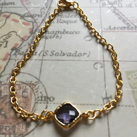 Tanzanite Gold Plated Bracelet
