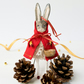 Little Red Riding Hood hand crafted Rabbit Christmas ornament art doll figurine
