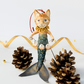 The Little mermaid spun cotton Cat Christmas tree decoration hanging ornament.