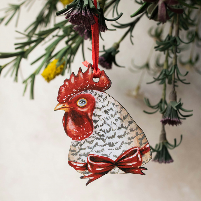Rooster chicken Easter hanging decoration