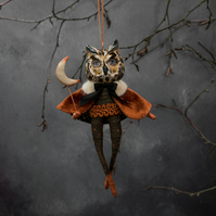 Harold the long eared owl hanging decoration