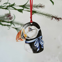 Puffin bird hanging decoration