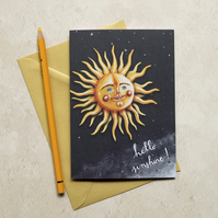 Sunny Stephen greeting card, A6. Blank inside