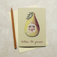 William the pearman greeting card. A6. Card for any occasion