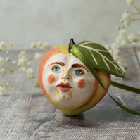 Darcy the peach ceramic hanging decoration
