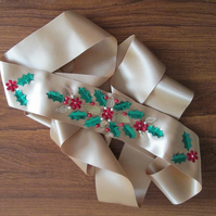 'Festive' Wedding Dress Sash