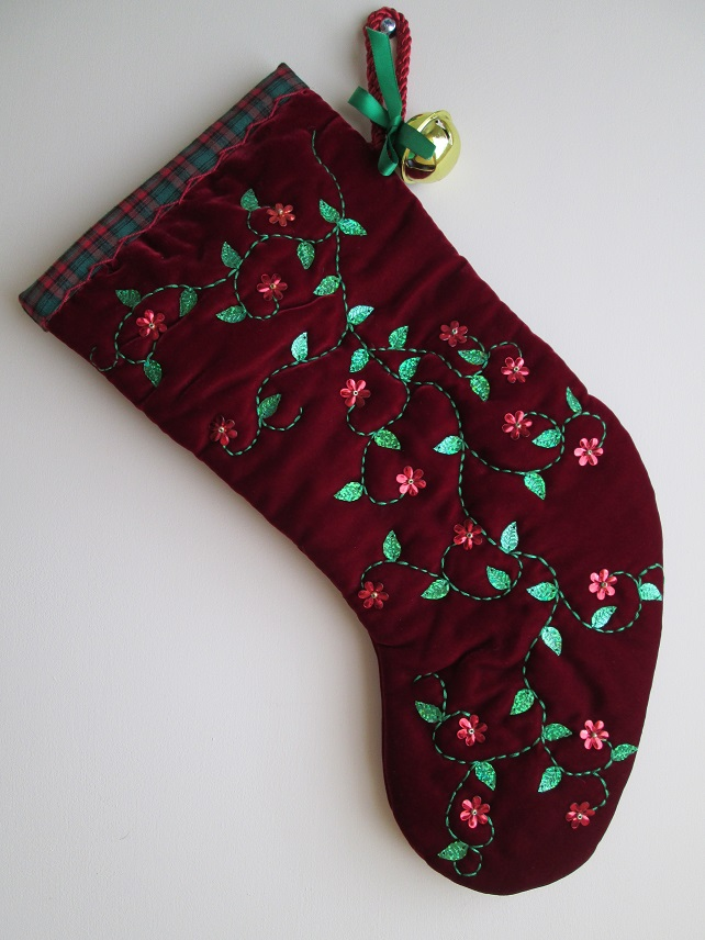 'Medieval' Luxury Velvet Christmas Stocking