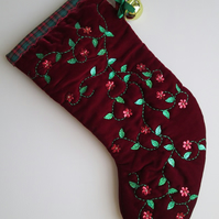 SALE - 'Medieval' Luxury Velvet Christmas Stocking