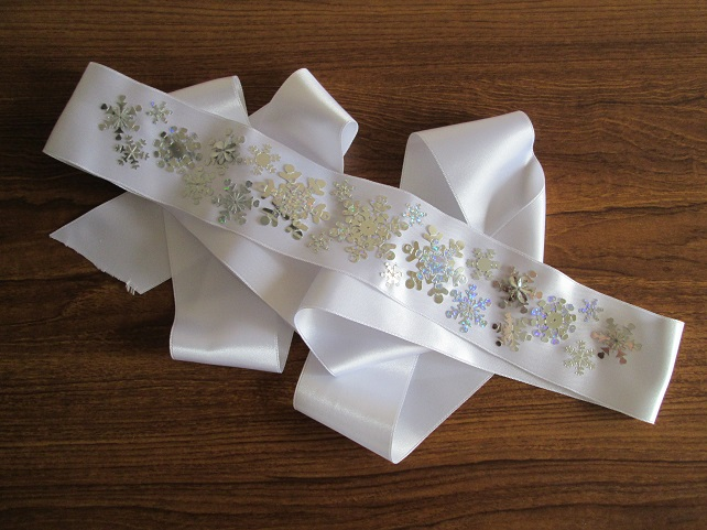 SALE - 'Flurry' Wedding Dress Sash