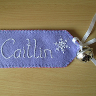 Personalised Christmas Stocking or Sack Name Tag - 6 to 10 letters
