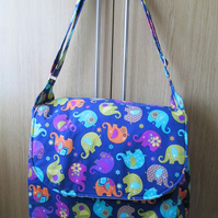 SALE - Funky Elephant Baby or Carer's Bag