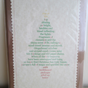 'Decorating the Tree' Poetry Christmas Card
