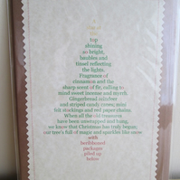 SALE - 'Decorating the Tree' Poetry Christmas Card