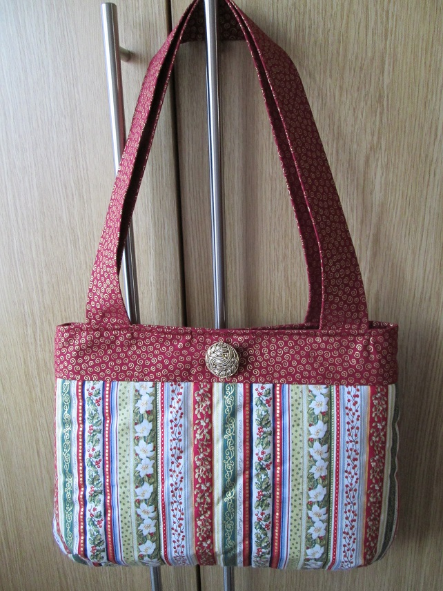 Christmas Handbag - Vintage Stripe