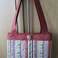 SALE - Christmas Handbag - Vintage Stripe